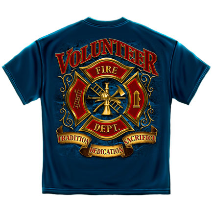 Volunteer Fire Department T-Shirt - Blue