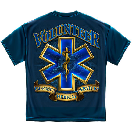 Volunteer EMS T-Shirt - Blue