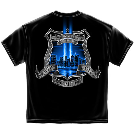 Bravery Honor Sacrifice T-Shirt - Black