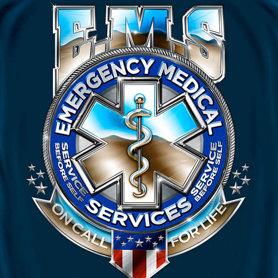 EMS On Call For Life Shirt - Blue