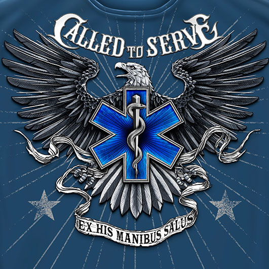 Called to Serve Tee Blue