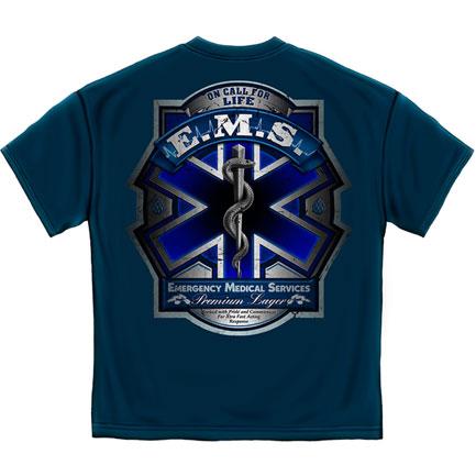 Ems Full Print Shirt Blue