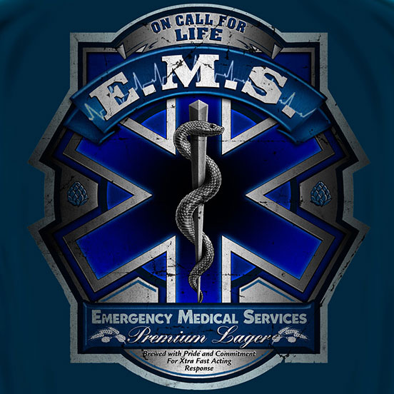 EMS Full Print Tee Blue