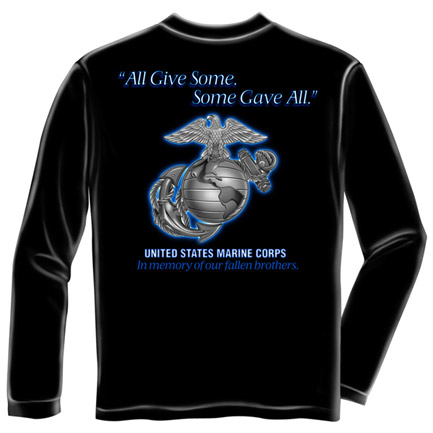 US Marine Corps Gave All USA Black Long Sleeve T Shirt