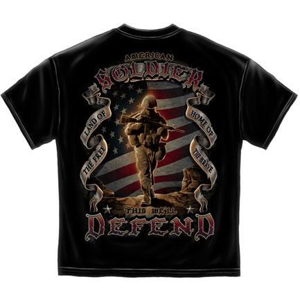 American Soldier T-Shirt - Black