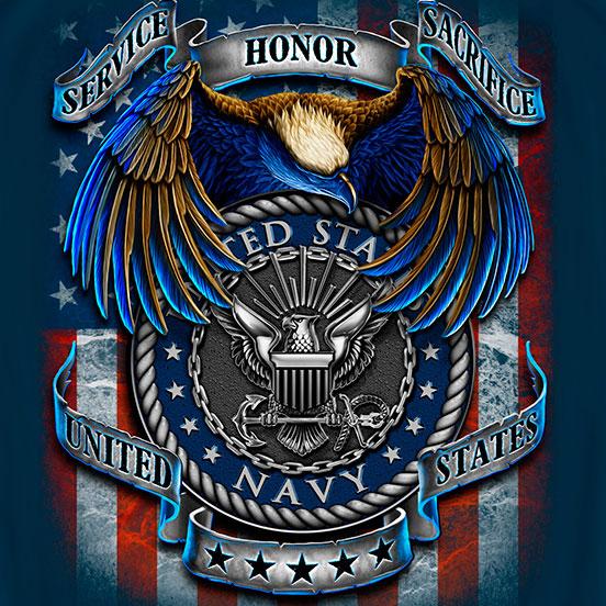 Navy Heroes Tee Blue