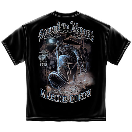 Marines Second to None T-Shirt - Black
