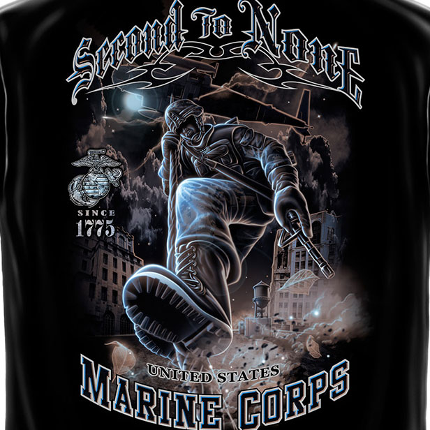 Marines Second to None Tee Black