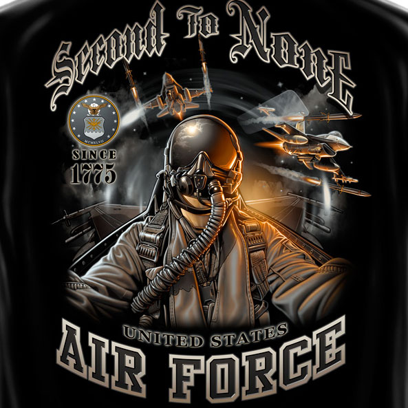 Air Force Second to None Tee Black