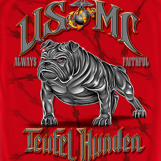 Teufel Hunden Marines Tee Red