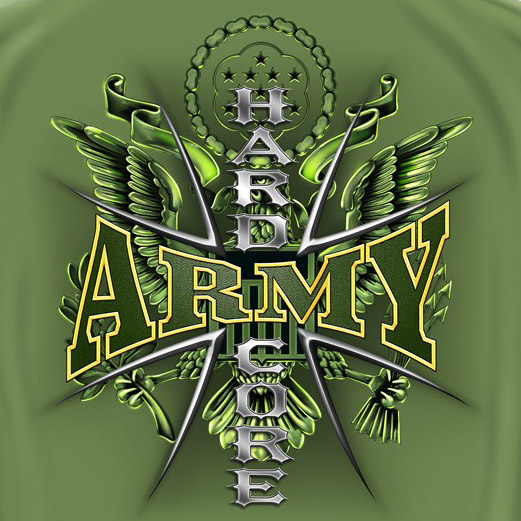 Army Hardcore Military USA Prayer Patriotic Green Graphic T Shirt