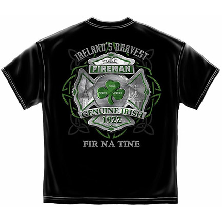 Genuine Irish Black Firefighter Tee Shirt