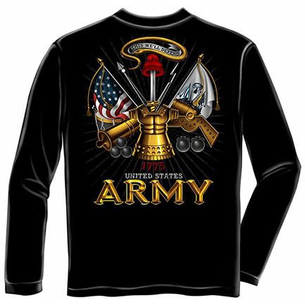 Men's Patriotic US Army 1775 Defend This Long Sleeve Shirt