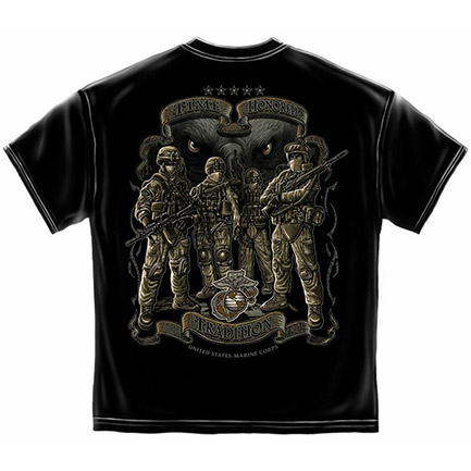 Black US Marine Corp Time Honored Tradition T-Shirt