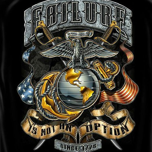 Men's US Marine Corp Failure Is Not An Option Shirt