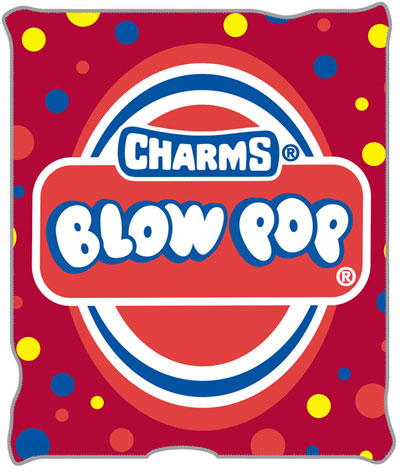 Charms Blow Pop Candy 50 X 60 Inch Fleece Throw Blanket