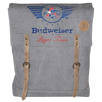 Budweiser Distressed Canvas Backpack