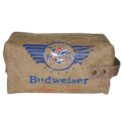 Budweiser Distressed Travel Kit
