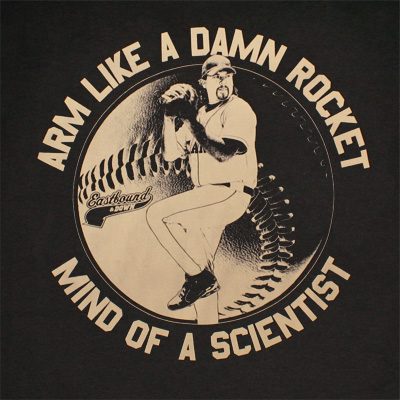Eastbound & Down Arm Like A Damn Rocket Black Graphic Tee Shirt