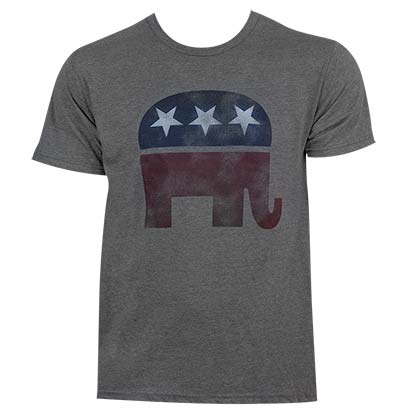 Republican Classic Elephant Logo Men's Grey T-Shirt