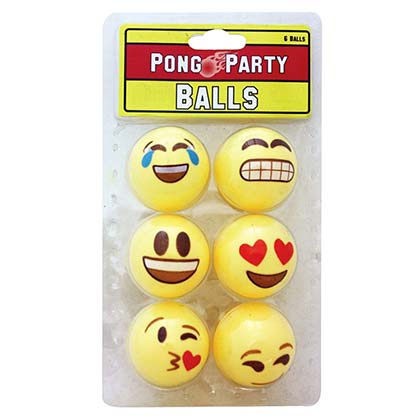 Emoji Yellow Beer Pong Ball Pack