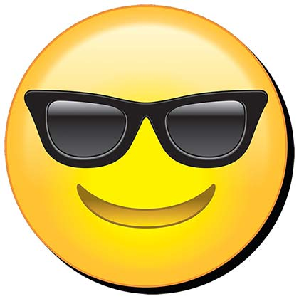 Cool Sunglasses Emoji Magnet