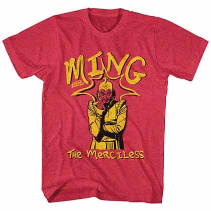 Flash Gordon Ming The Merciless Mens Red T-Shirt