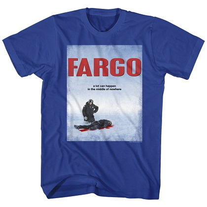 Fargo Movie Poster Blue Tshirt