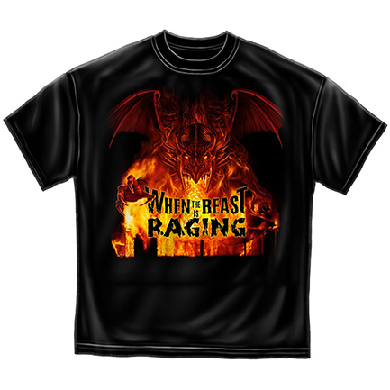 Firefighter When The Beast Is Raging Tee Shirt