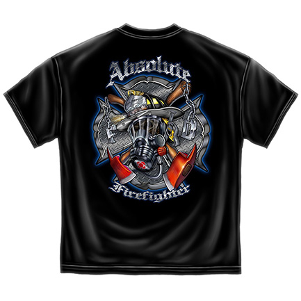 Gas Mask Absolute Firefighter TShirt