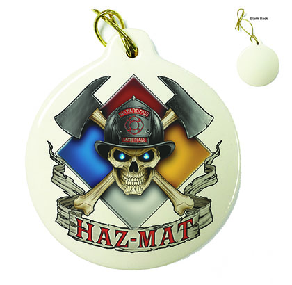 Firefighter Haz Mat Porcelain Ornament