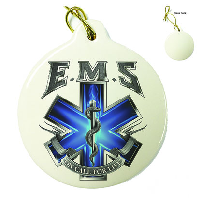 On Call For Life EMS Porcelain Ornament