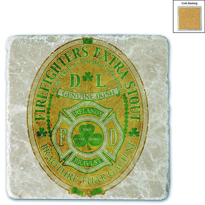 Firefighter Irelands Bravest Stone Coaster