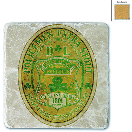 Police Irelands Finest Stone Coaster