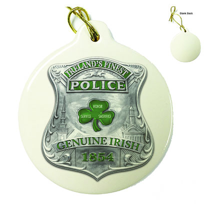 Police Garda Ireland's Finest Porcelain Ornament