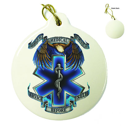Hero's EMS Porcelain Ornament