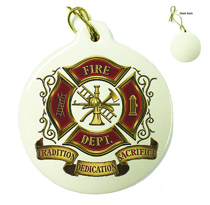 Volunteer Firefighter Porcelain Ornament