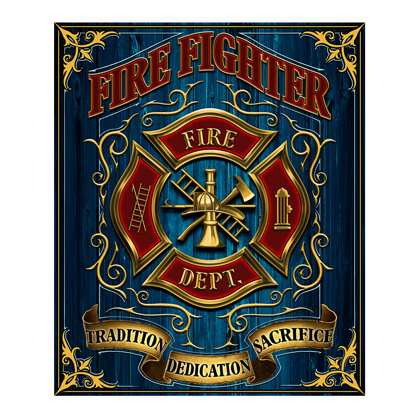 Fire Fighters 50x60 Fleece Blanket
