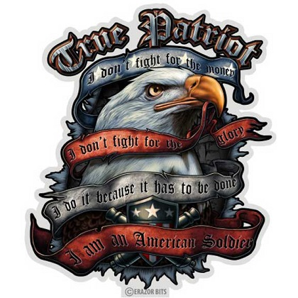 True Patriot Decal Sticker
