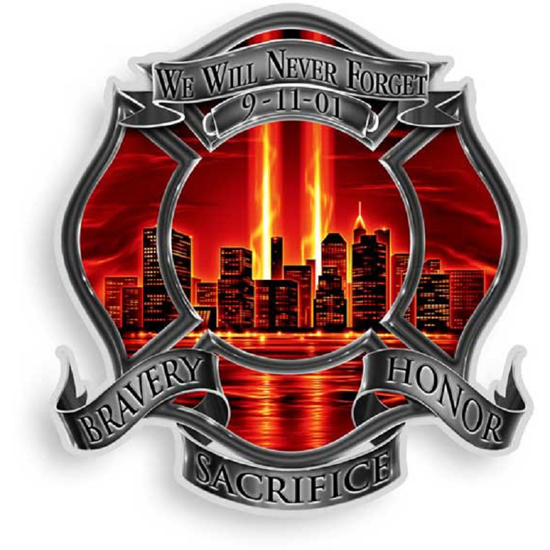 Never Forget Red Decal Sticker