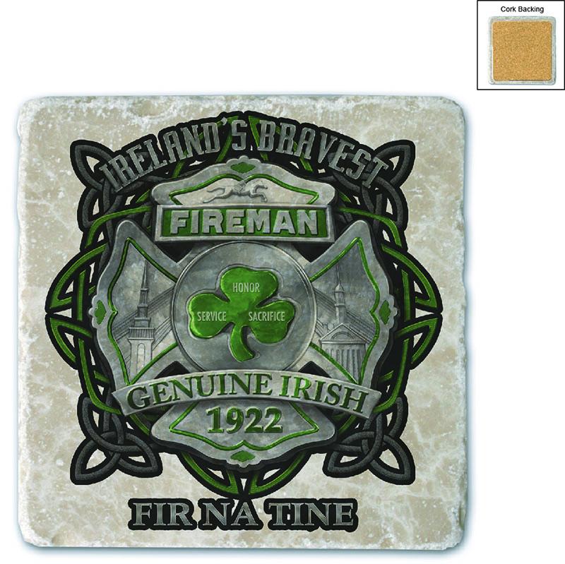 Firefighter Garda Ireland's Bravest Stone Coaster