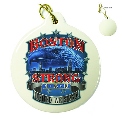 Boston Strong Porcelain Ornament