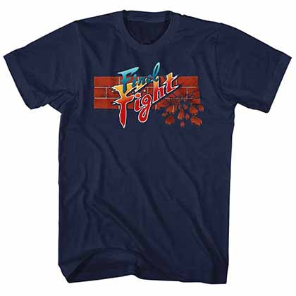 Final Fight Finalfight Mens Blue T-Shirt