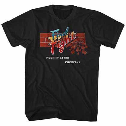 Final Fight Arcade Mens Black T-Shirt