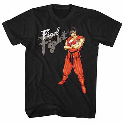 Final Fight Guy Mens Black T-Shirt
