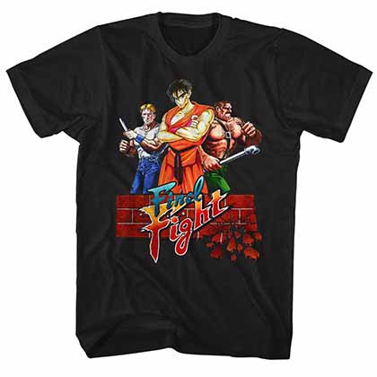 Final Fight Finalfight Mens Black T-Shirt