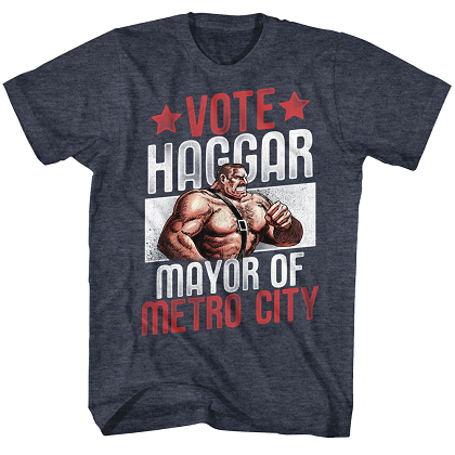 Final Fight Vote Haggar Mayor Tshirt