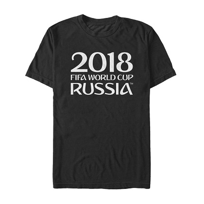 World Cup FIFA Russia 2018 Black and White Tshirt