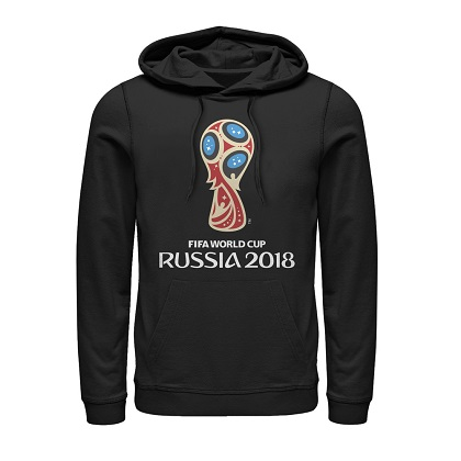 World Cup Russia 2018 Logo Black Hoodie