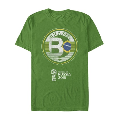World Cup 2018 Brasil Green Tshirt